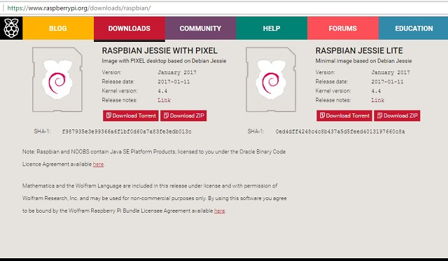 Raspberry pi jessie os download